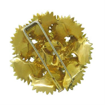 thumbnail image of 1970s Regner French Yellow Gold Diamond Brooch Pin