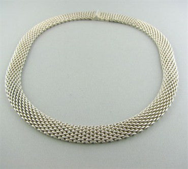image of Classic Tiffany & Co Somerset Sterling Silver Necklace