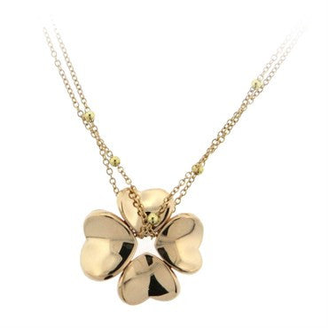 image of Pasquale Bruni 4Love Ruby 18k Gold Clover Pendant Necklace