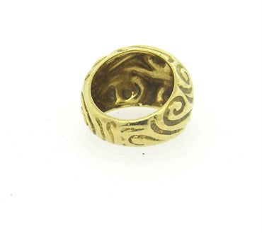 thumbnail image of Elizabeth Gage 18k Gold Swirl Motif Dome Ring