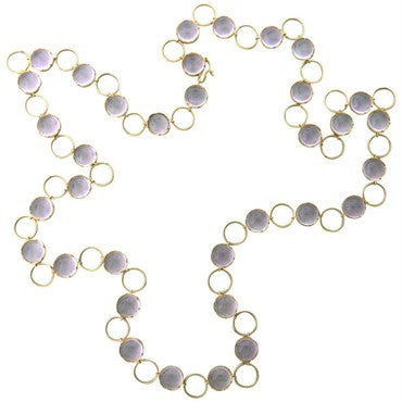 image of Irene Neuwirth Amethyst Gold Long Necklace