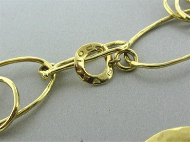 image of Ippolita 18K Yellow Hammered Gold Link Necklace