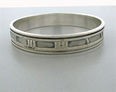 thumbnail image of Estate Tiffany & Co. Sterling Silver Atlas Collection Bangle Bracelet