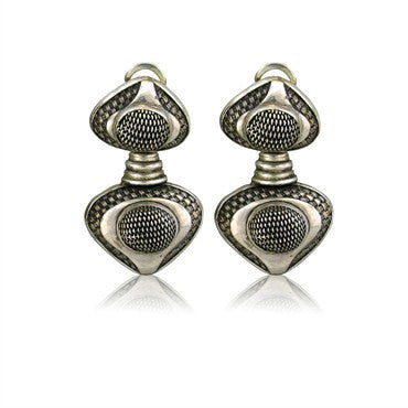 thumbnail image of Estate John Hardy Sterling Silver Drop Earrings