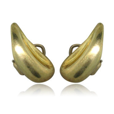 image of Estate Tiffany & Co Peretti 18k Gold Teardrop Earrings