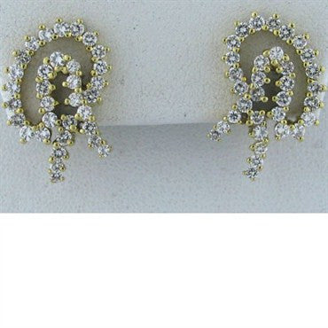thumbnail image of Estate Jose Hess 18k Gold 2.00ct Diamond Earrings