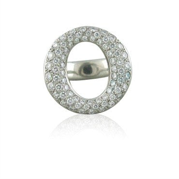 image of Tiffany & Co Elsa Peretti Sevillana Platinum Diamond Ring