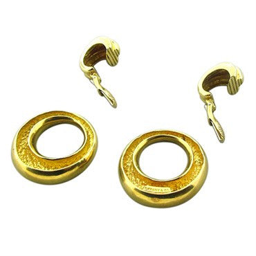 thumbnail image of Estate Tiffany & Co 18K Yellow Gold Doorknocker Earrings