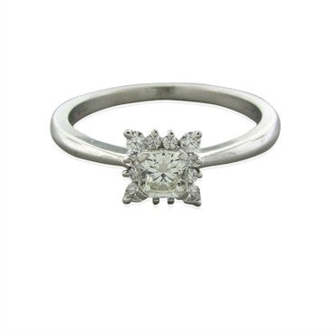 image of Hearts On Fire 18k White Gold Dream Cut Diamond Engagement Ring