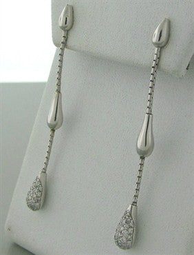 image of H. Stern 18K Gold Diamond Drop Earrings