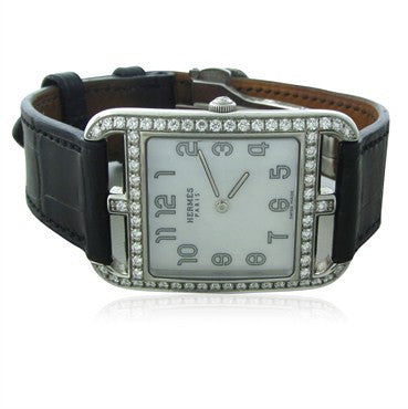 image of Hermes Cape Cod Mother Of Pearl Diamond Ladies Watch CC2.730