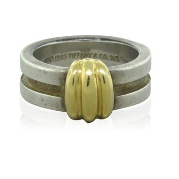 image of Circa 1995 Tiffany & Co 18K Yellow Gold Sterling Silver Ring