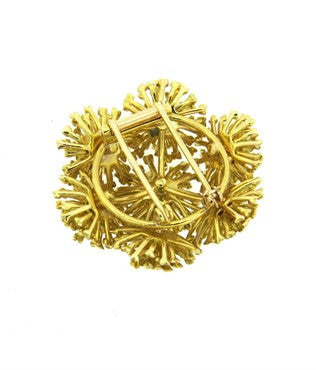 thumbnail image of Large 1970s Tiffany & Co 18k Gold Brooch Pin