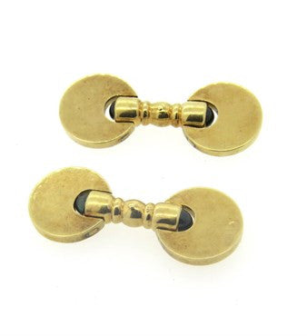 thumbnail image of 1960s Gold Sapphire Cabochon Cufflinks