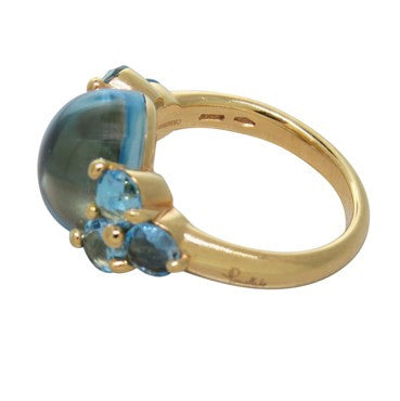 thumbnail image of New Pomellato Luna 18k Gold Blue Topaz Ring