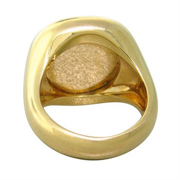 image of Pomellato Cipria 18k Gold Rose Quartz Ring