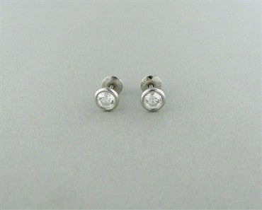 image of Tiffany & Co. Elsa Peretti Diamonds By The Yard Platinum Stud Earrings