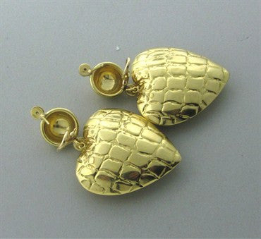 thumbnail image of Gucci 18K Yellow Gold Diamond Large Heart Earrings