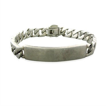image of Estate Tiffany & Co Sterling Silver ID Bracelet