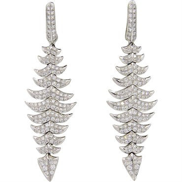 image of Magnificent Stephen Webster 2.00ctw Diamond 18k Gold Drop Earrings