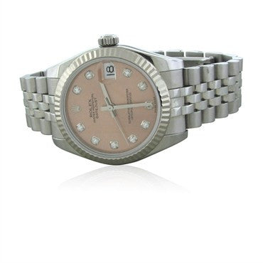 thumbnail image of Rolex Oyster Perpetual Datejust Diamond Dial Watch Ref. 178274