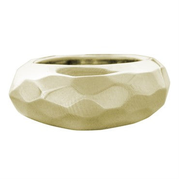 image of New Pomellato 18k Gold Faceted Dome Ring