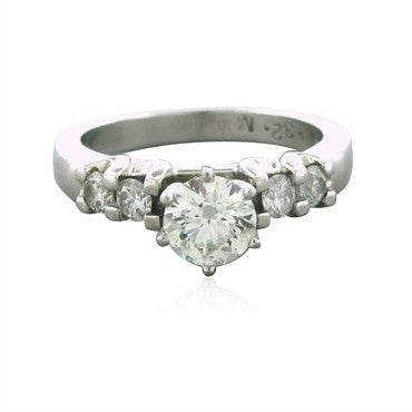 image of Hearts On Fire Platinum 0.97ctw Diamond Ideal Engagement Ring
