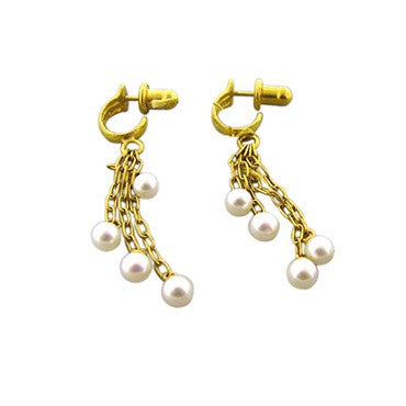 thumbnail image of New Gurhan Dew 24k Gold Pearl Drop Earrings