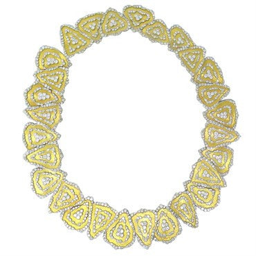 thumbnail image of Buccellati Impressive Rigato Diamond Gold Necklace