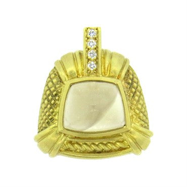 image of Judith Ripka 18k Gold Crystal Diamond Pendant