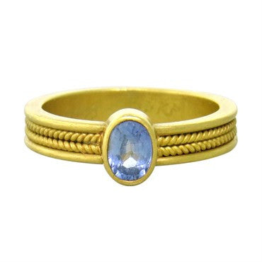 thumbnail image of Reinstein Ross 20k Gold Sapphire Ring