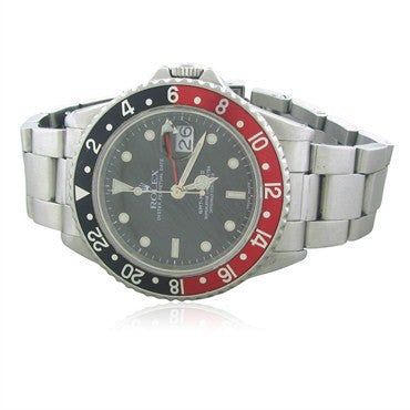 thumbnail image of Rolex GMT Master Stainless Steel Automatic Mens Watch Ref. 16760
