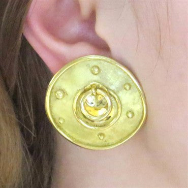 thumbnail image of Unusual Denise Roberge Gold Earrings