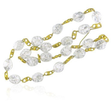 image of New Gurhan 24k Gold Quartz Diamond Necklace
