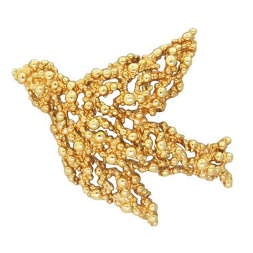 image of Gilbert Albert 18K Yellow Gold Bird Pendant