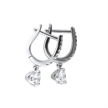 image of Hearts On Fire Leverback 0.59ct Diamond Earrings