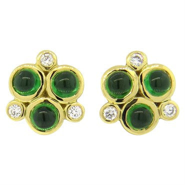 image of Temple St. Clair Trio Tsavorite 18k Gold Earrings