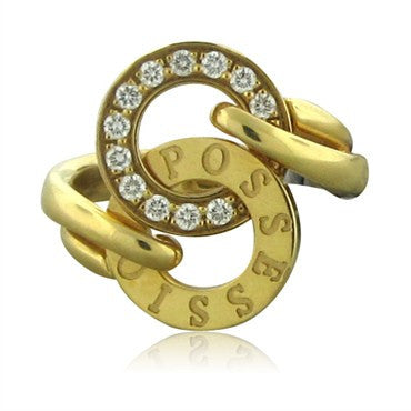 image of New Piaget Possession 18K Yellow Gold Diamond Ring