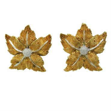 thumbnail image of Mario Buccellati Gold Leaf Earrings