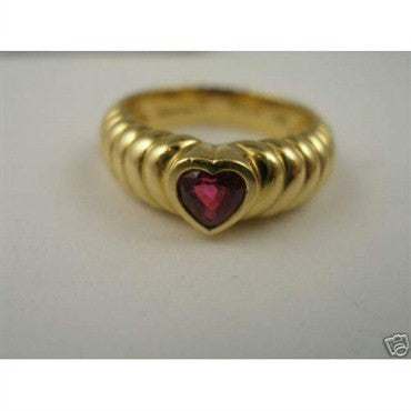 image of Estate Tiffany & Co 18K Gold Pink Tourmaline Ruby Ring