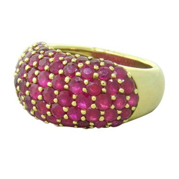 thumbnail image of Ruby 18K Gold Cluster Ring