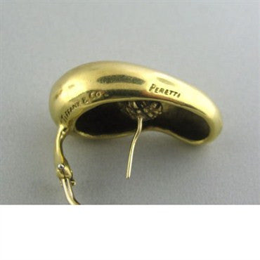 thumbnail image of Vintage Tiffany & Co Elsa Peretti 18k Gold Earrings