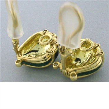image of Estate Tiffany & Co Schlumberger Shell Diamond Earrings