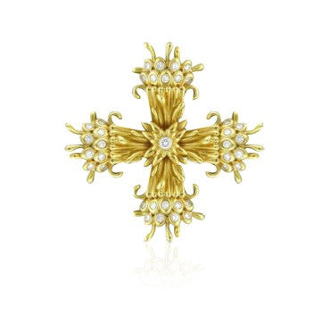 image of Tiffany & Co Schlumberger Maltese Cross Brooch Pin Clip