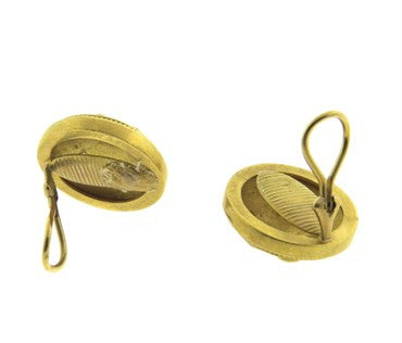 thumbnail image of Reinstein Ross 22k Gold Diamond Tuscan Earrings