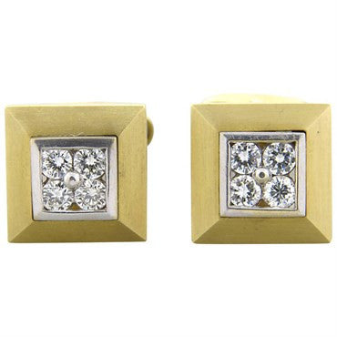 thumbnail image of ABL Diamond 18K Gold Square Cufflinks