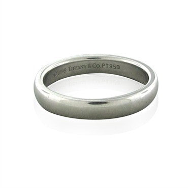 image of Estate Tiffany & Co Platinum 3mm Wedding Band Ring
