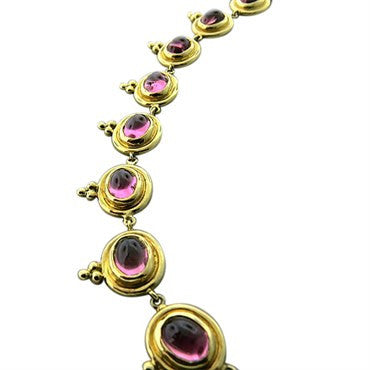 thumbnail image of Temple St. Clair 18k Yellow Gold 33.04ct Pink Tourmaline Necklace