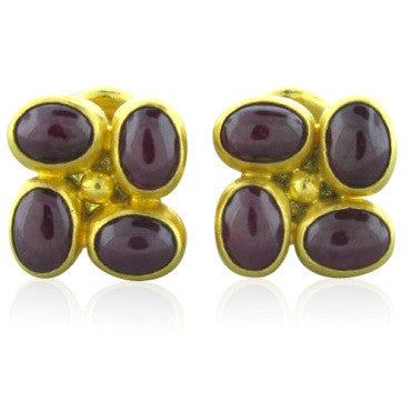 image of New Gurhan 24k Gold 12.35ct Ruby Cufflinks