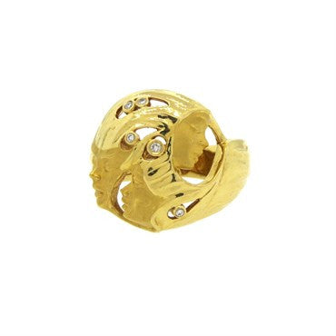 thumbnail image of Carrera Y Carrera 18k Gold Diamond Dome Ring
